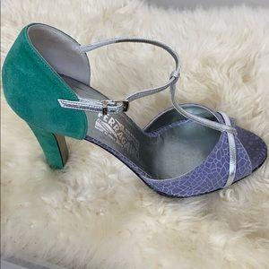 Salvatore Ferragamo Heels Lavender Green 8